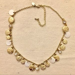 Lia Sophia Gold Mother Of Pearl Carved Necklace